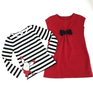 Gymboree Olivia! long sleeved tee and dress 7